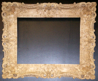 A Louis XV Style Picture Frame. A sequence of photographs showing the carving process.